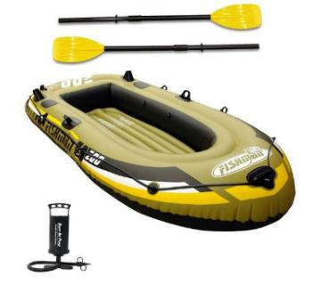 2 Air Chambers Inflatable Air Pumping Boat