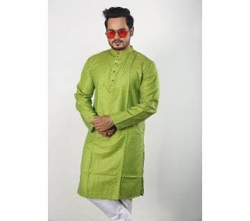 Semi Long Cotton Punjabi For Men