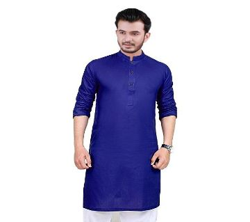 Semi long cotton panjabi  /-