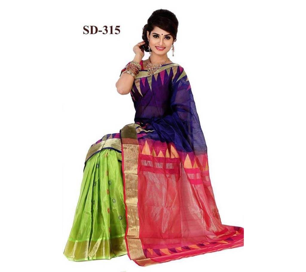 টাঙ্গাইল তাঁত হাফ সিল্ক শাড়ি বাংলাদেশ - 626636