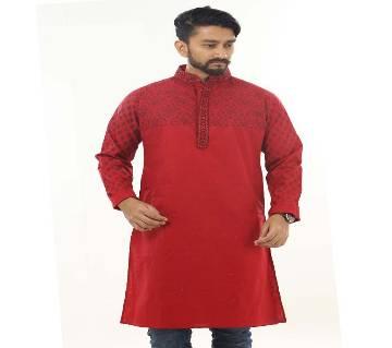 Mens Cotton Semi Long Panjabi
