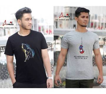 Gents half sleeve cotton t shirt combo