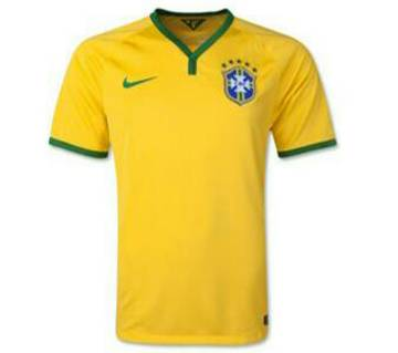 World Cup Brazil Home Jersey Half Sleeve (Copy)