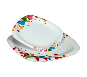 Square Plate 9 inch (6 Pieces)