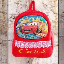 Red Car School Backpack For Kids