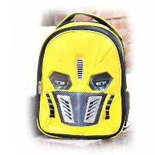 Transformer School Backpack For Kids -Yellow