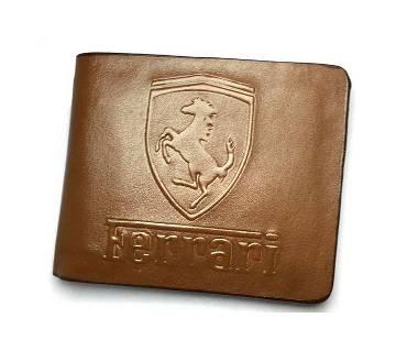 Ferrari LS Brown Leather Wallet - Copy