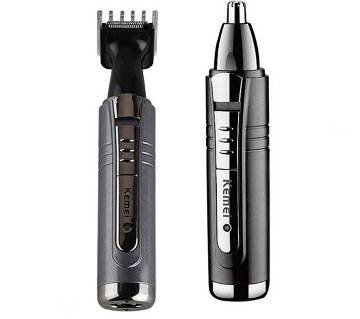 Kemei Km-6511 2 In 1 Nose Trimmer - Black