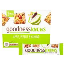Goodness Knows Apple, Peanut & Almond Bars UK