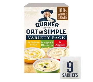 Quaker Oat so Simple Porridge Variety Pack 297gm UK
