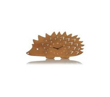 Wooden hedgehog wall clock UK