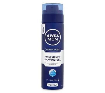 NIVEA MEN Shaving Protect & Care Moisturising Shave Gel -200ml-Germany