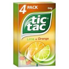 Tic Tac Lime & Orange 4 Pack UK
