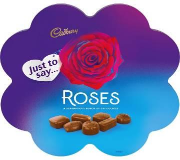 Cadbury Roses চকোলেট ফ্লাওয়ার শেপড বক্স - UK