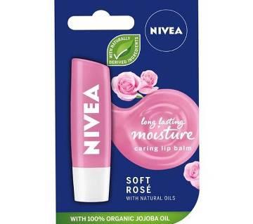 Nivea Soft Rose Lip Balm-4.8gm-Germany
