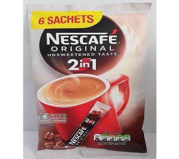 Nescafe original 2 in 1 Coffee sachets x 6 mugs UK