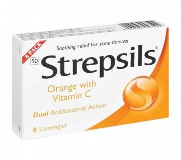 STREPSILS ORANGE লজেন্স ৮ টি - UK