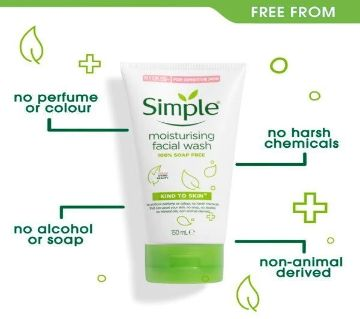 Simple Kind to Skin Moisturising Facial Wash 150ml UK
