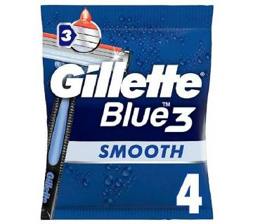 Gillette Blue 3 Disposable Mens Razor 4 pack