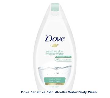 Dove Sensitive Skin Micellar Water Body Wash 500ml - UK