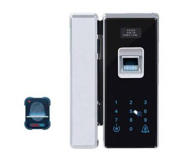 office keyless finger print door glass lock