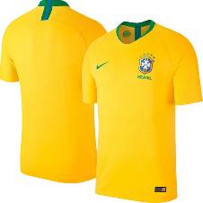 World Cup 2018 Brazil Home Jersey Half Sleeve - (Copy)
