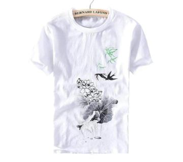 half sleeve cotton T-shirt for Women
