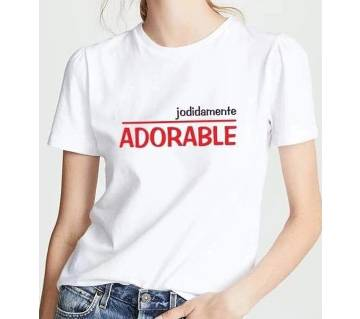 Adorable half sleeve cotton T-shirt for Women