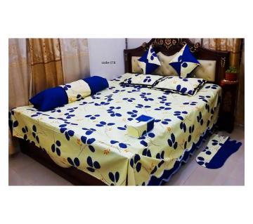 8 piece diuble size cotton bedsheet
