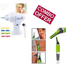 Micro Max Nose & Ear Trimmer+Wax Vac Ear Cleaner