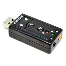 Black Stylish Sound Card USB 7.1