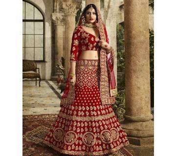 Red Bridal লেহেঙ্গা উইথ ওড়না