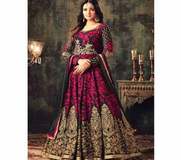 Semi-Stitched Georgette Gown For Women