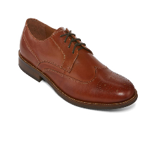 Claiborne Bulldog Men Leather Wing-Tip Oxfords Shoe
