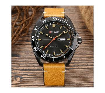 Curren 8272 Casual Analog Leather Watch For Men