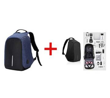 Anti-Theft USB Charging Travel Laptop Backpack - Combo Offer