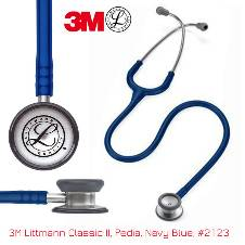 3M Littmann Classic II Pediatric স্টেথোস্কোপ, Navy Blue, 28 inch, 2123