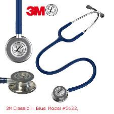 3M Littmann Classic III স্টেথোস্কোপ, Adult & Pedia, Navy Blue, Double Chestpiece 27 inch, 5622