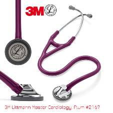 3M Littmann Master Cardiology স্টেথোস্কোপ, Plum Tube, Polished Stainless Steel Finish, 27 inch, 2167