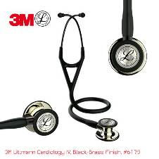 3M Littmann কার্ডিওলজি IV স্টেথোস্কোপ, Black tube, Champagne chestpiece, 6179