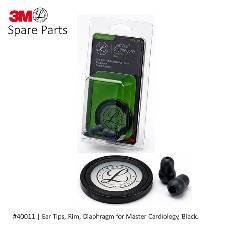 3M Littmann Spare Parts Kit for মাস্টার কার্ডিওলজি স্টেথোস্কোপ, Black (Ear Tips, Rim, Dia) #40011
