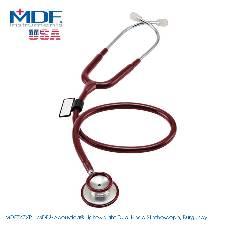 MDF Acoustica Lightweight Dual Head স্টেথোস্কোপ, Burgundy