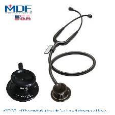 MDF Acoustica Lightweight Dual Head Stethoscope, All Black