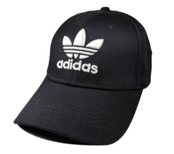 White Adidas Logo Cotton Cap For Men