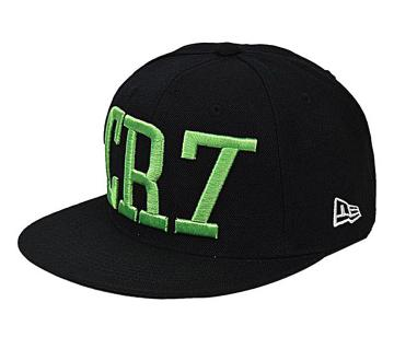 Black And Green CR7 Cap For Men