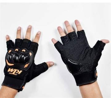 Black ktm pro biker gloves