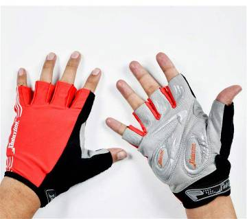 Red and black Gloves for men