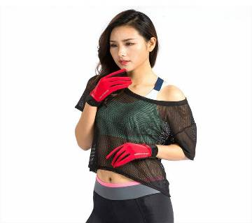 Red Sports Gloves For Women