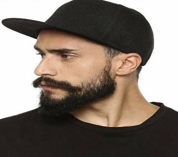 Black Cotton Cap For Men
