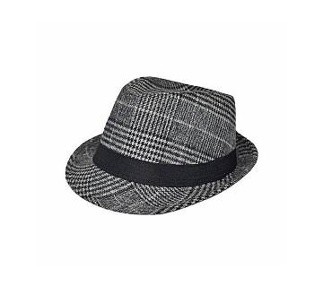 China Grey And Black Cotton Hat For Men